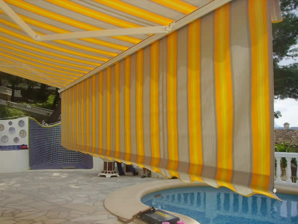 front bar vertical Awning Attachments costa blanca